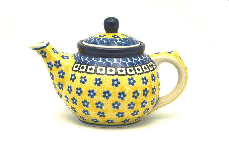 Ceramika Artystyczna Polish Pottery Teapot - 14 oz. - Sunburst 120-859a (Ceramika Artystyczna)