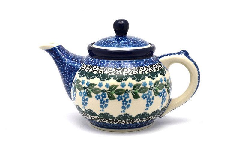 Ceramika Artystyczna Polish Pottery Teapot - 14 oz. - Wisteria 120-1473a (Ceramika Artystyczna)