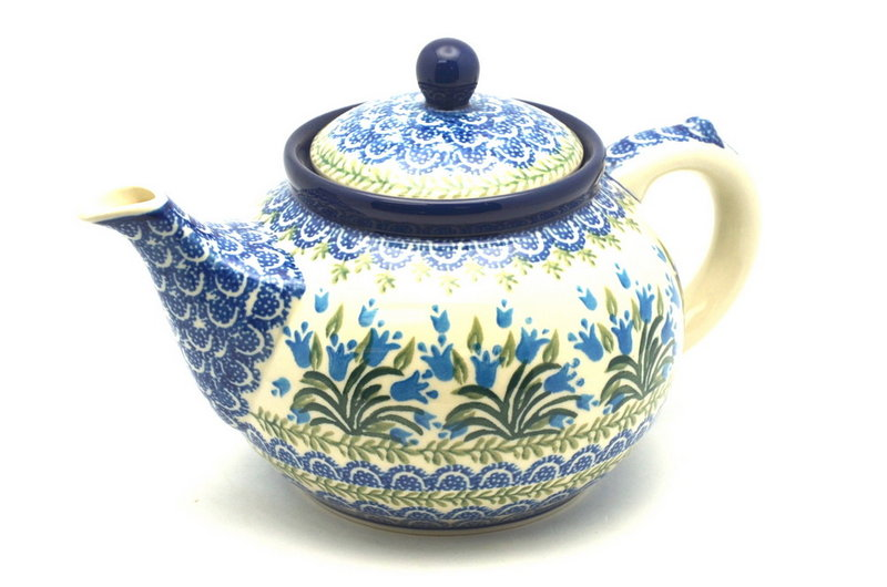Ceramika Artystyczna Polish Pottery Teapot - 1 1/4 qt. - Blue Bells 060-1432a (Ceramika Artystyczna)