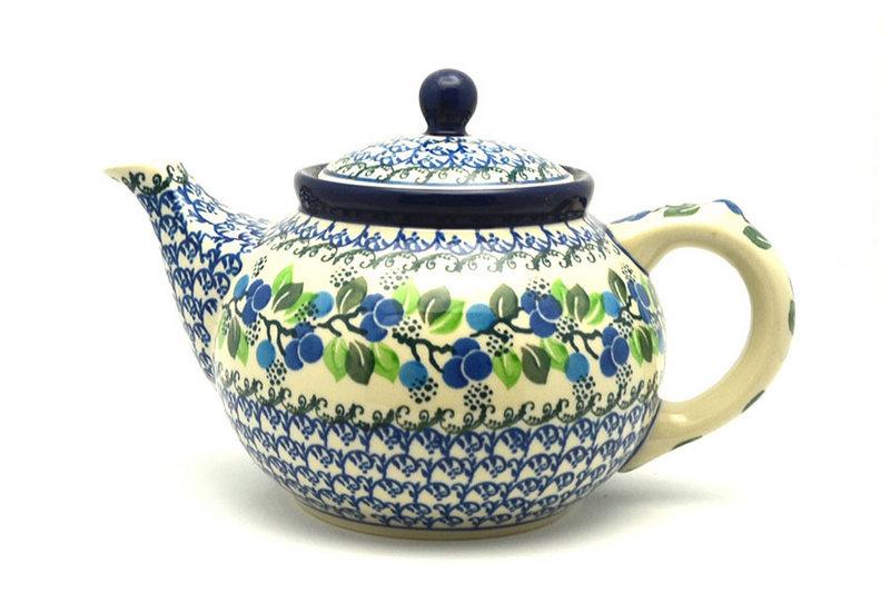 Ceramika Artystyczna Polish Pottery Teapot - 1 1/4 qt. - Blue Berries 060-1416a (Ceramika Artystyczna)