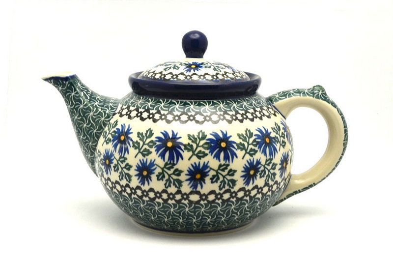 Ceramika Artystyczna Polish Pottery Teapot - 1 1/4 qt. - Blue Chicory 060-976a (Ceramika Artystyczna)