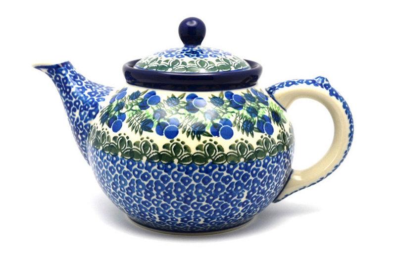 Ceramika Artystyczna Polish Pottery Teapot - 1 1/4 qt. - Huckleberry 060-1413a (Ceramika Artystyczna)