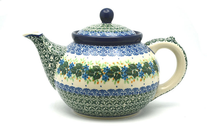 Ceramika Artystyczna Polish Pottery Teapot - 1 1/4 qt. - Ivy Trail 060-1898a (Ceramika Artystyczna)