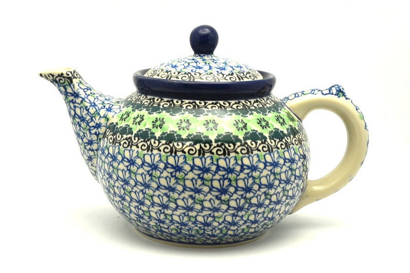 Ceramika Artystyczna Polish Pottery Teapot - 1 1/4 qt. - Kiwi 060-1479a (Ceramika Artystyczna)