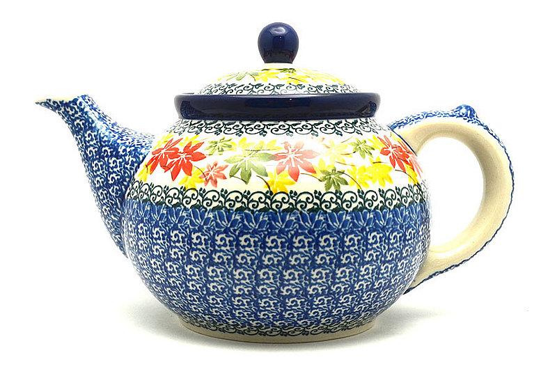 Ceramika Artystyczna Polish Pottery Teapot - 1 1/4 qt. - Maple Harvest 060-2533a (Ceramika Artystyczna)