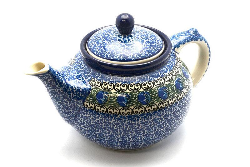 Ceramika Artystyczna Polish Pottery Teapot - 1 1/4 qt. - Peacock Feather 060-1513a (Ceramika Artystyczna)