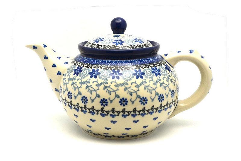 Ceramika Artystyczna Polish Pottery Teapot - 1 1/4 qt. - Silver Lace 060-2158a (Ceramika Artystyczna)