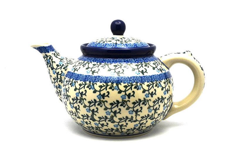 Ceramika Artystyczna Polish Pottery Teapot - 1 1/4 qt. - Terrace Vines 060-1822a (Ceramika Artystyczna)