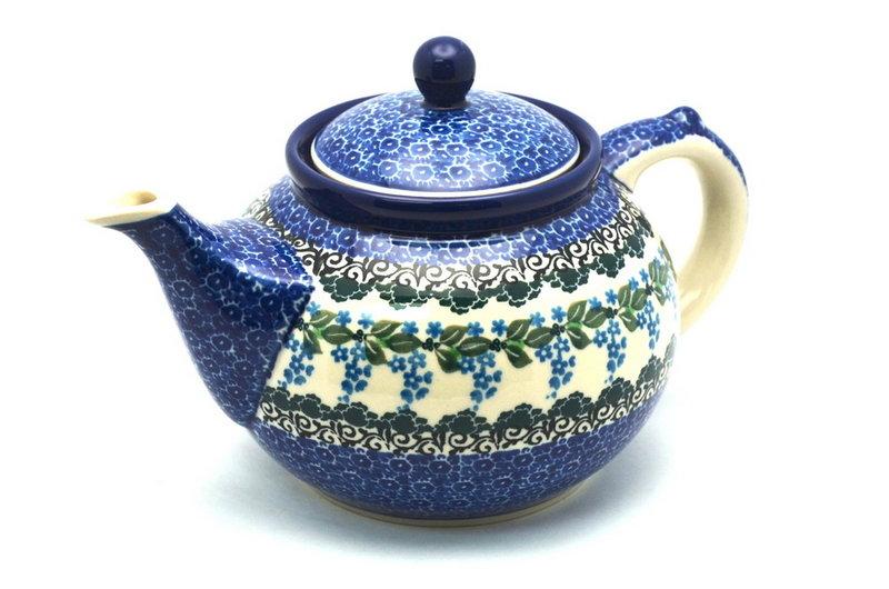 Ceramika Artystyczna Polish Pottery Teapot - 1 1/4 qt. - Wisteria 060-1473a (Ceramika Artystyczna)