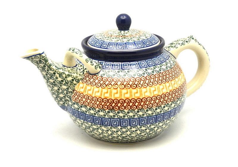Ceramika Artystyczna Polish Pottery Teapot - 1 3/4 qt. - Autumn 444-050a (Ceramika Artystyczna)