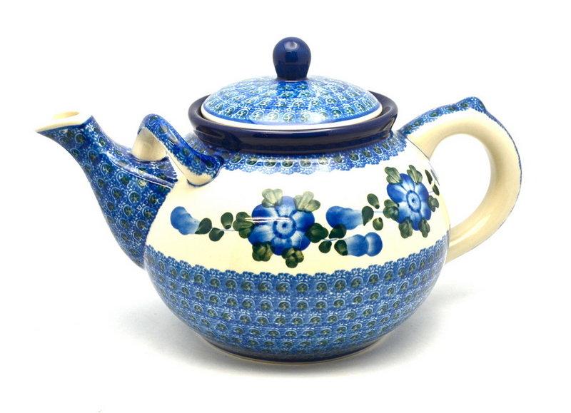 Ceramika Artystyczna Polish Pottery Teapot - 1 3/4 qt. - Blue Poppy 444-163a (Ceramika Artystyczna)