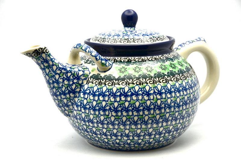 Ceramika Artystyczna Polish Pottery Teapot - 1 3/4 qt. - Kiwi 444-1479a (Ceramika Artystyczna)