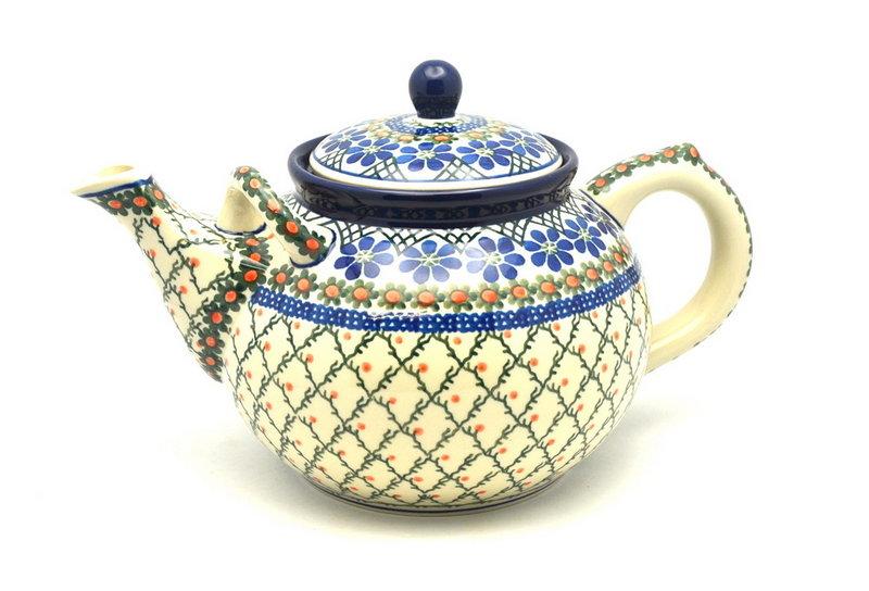 Ceramika Artystyczna Polish Pottery Teapot - 1 3/4 qt. - Primrose 444-854a (Ceramika Artystyczna)