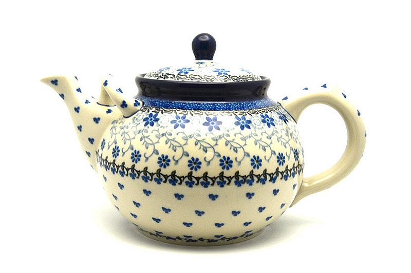 Ceramika Artystyczna Polish Pottery Teapot - 1 3/4 qt. - Silver Lace 444-2158a (Ceramika Artystyczna)