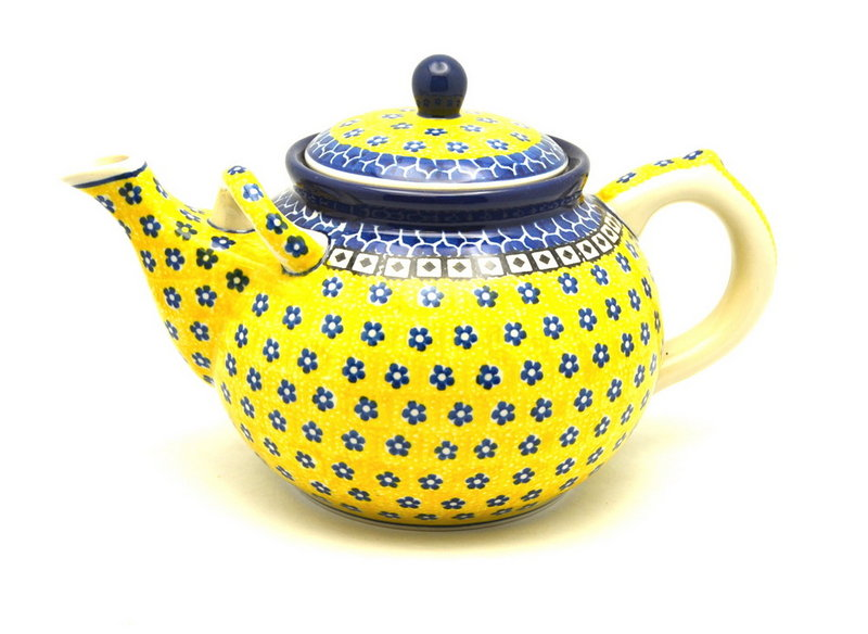 Ceramika Artystyczna Polish Pottery Teapot - 1 3/4 qt. - Sunburst 444-859a (Ceramika Artystyczna)
