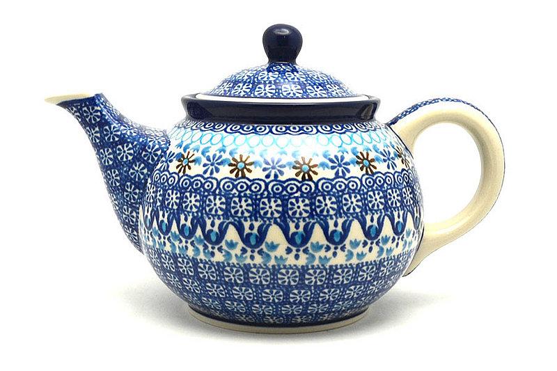 Ceramika Artystyczna Polish Pottery Teapot - 3/4 qt. - Blue Yonder 264-2187a (Ceramika Artystyczna)