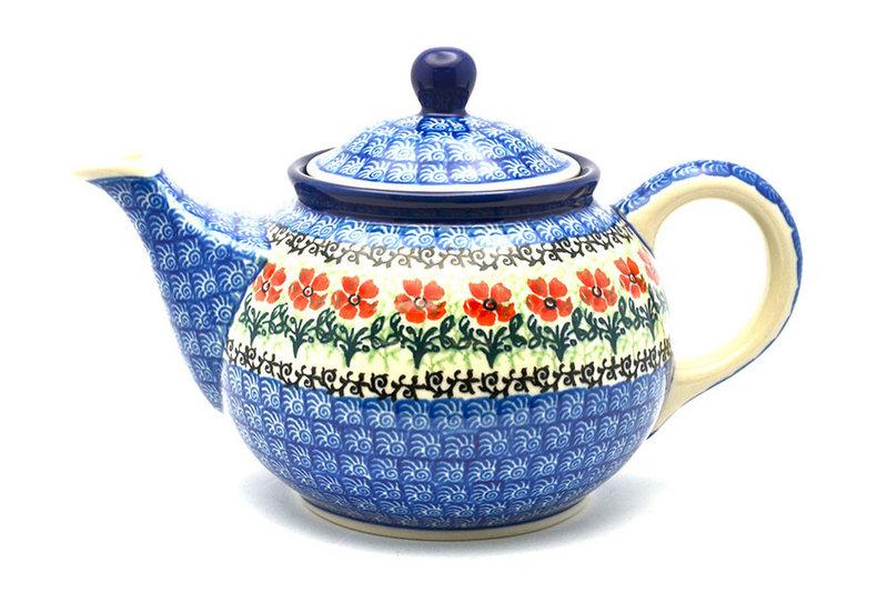 Ceramika Artystyczna Polish Pottery Teapot - 3/4 qt. - Maraschino 264-1916a (Ceramika Artystyczna)