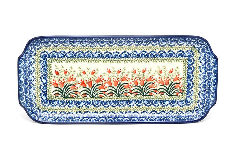 """Ceramika Artystyczna Polish Pottery Tray - Appetizer - 12"""" - Crimson Bells 410-1437a (Ceramika Artystyczna)"""