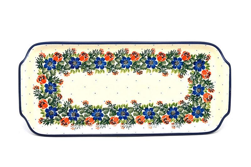 """Ceramika Artystyczna Polish Pottery Tray - Appetizer - 12"""" - Garden Party 410-1535a (Ceramika Artystyczna)"""