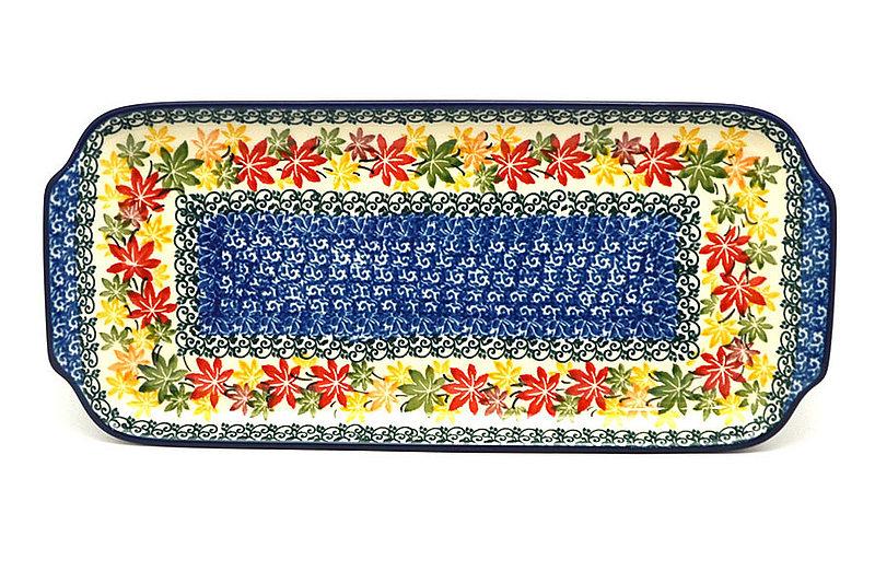 """Ceramika Artystyczna Polish Pottery Tray - Appetizer - 12"""" - Maple Harvest 410-2533a (Ceramika Artystyczna)"""