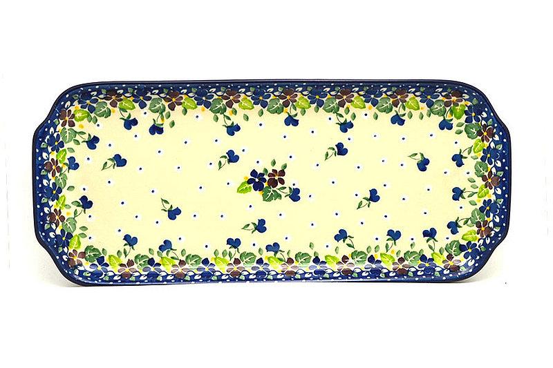 """Ceramika Artystyczna Polish Pottery Tray - Appetizer - 12"""" - Plum Luck 410-2509a (Ceramika Artystyczna)"""