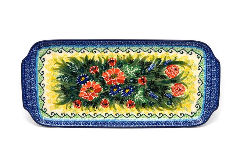 """Ceramika Artystyczna Polish Pottery Tray - Appetizer - 12"""" - Unikat Signature U4610 410-U4610 (Ceramika Artystyczna)"""