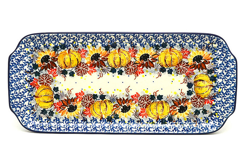 """Ceramika Artystyczna Polish Pottery Tray - Appetizer - 12"""" - Unikat Signature U4741 410-U4741 (Ceramika Artystyczna)"""