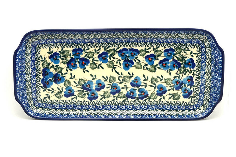 "Ceramika Artystyczna Polish Pottery Tray - Appetizer - 12"" - Winter Viola 410-2273a (Ceramika Artystyczna)"