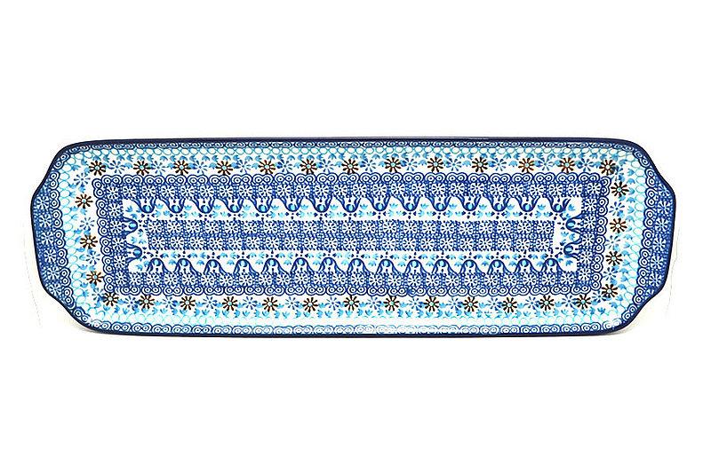 """Ceramika Artystyczna Polish Pottery Tray - Appetizer - 16"""" - Blue Yonder 416-2187a (Ceramika Artystyczna)"""