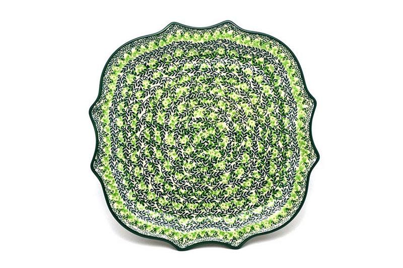 Ceramika Artystyczna Polish Pottery Tray - Serpentine Edge - Irish Meadow 507-1888q (Ceramika Artystyczna)