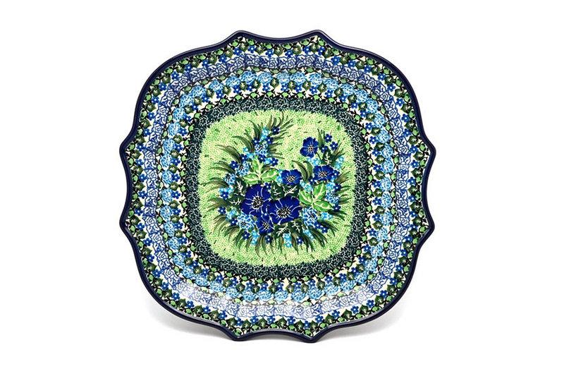 Ceramika Artystyczna Polish Pottery Tray - Serpentine Edge - Unikat Signature U4629 507-U4629 (Ceramika Artystyczna)
