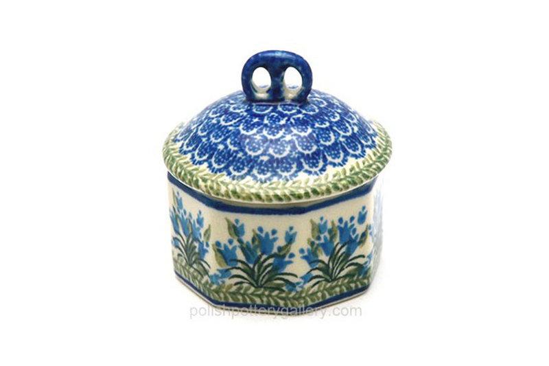 Ceramika Artystyczna Polish Pottery Trinket Box - Blue Bells 110-1432a (Ceramika Artystyczna)