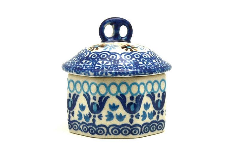 Ceramika Artystyczna Polish Pottery Trinket Box - Blue Yonder 110-2187a (Ceramika Artystyczna)