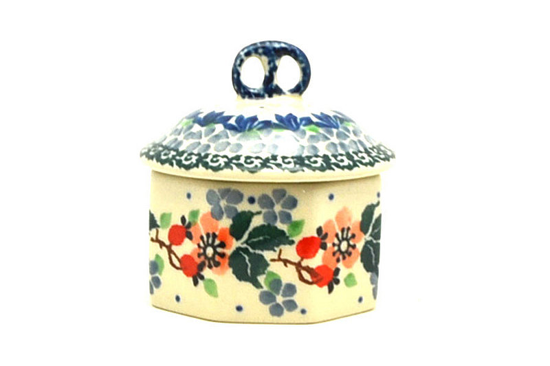 Ceramika Artystyczna Polish Pottery Trinket Box - Cherry Blossom 110-2103a (Ceramika Artystyczna)