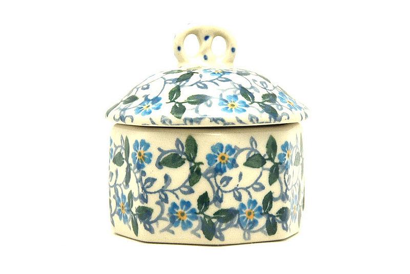 Ceramika Artystyczna Polish Pottery Trinket Box - Forget-Me-Knot 110-2089a (Ceramika Artystyczna)