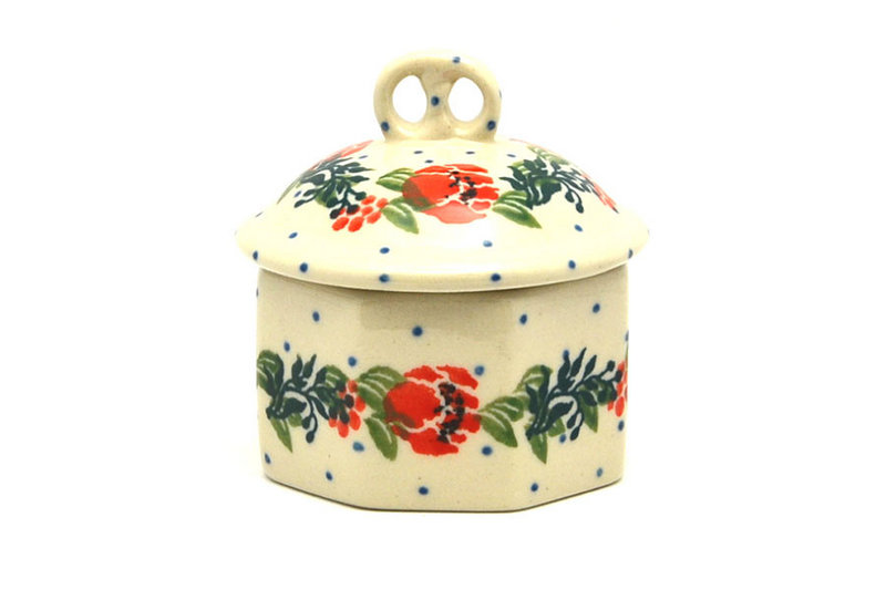 Ceramika Artystyczna Polish Pottery Trinket Box - Garden Party 110-1535a (Ceramika Artystyczna)