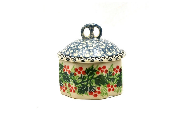 Ceramika Artystyczna Polish Pottery Trinket Box - Holly Berry 110-1734a (Ceramika Artystyczna)