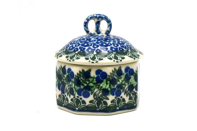 Ceramika Artystyczna Polish Pottery Trinket Box - Huckleberry 110-1413a (Ceramika Artystyczna)