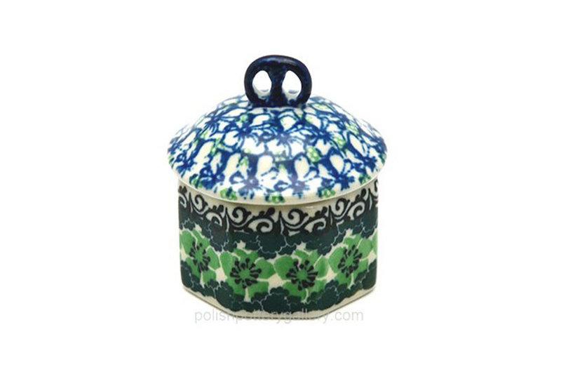 Ceramika Artystyczna Polish Pottery Trinket Box - Kiwi 110-1479a (Ceramika Artystyczna)