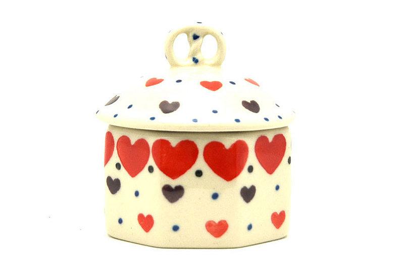 Ceramika Artystyczna Polish Pottery Trinket Box - Love Struck 110-2108a (Ceramika Artystyczna)