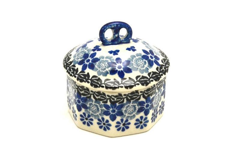Ceramika Artystyczna Polish Pottery Trinket Box - Silver Lace 110-2158a (Ceramika Artystyczna)