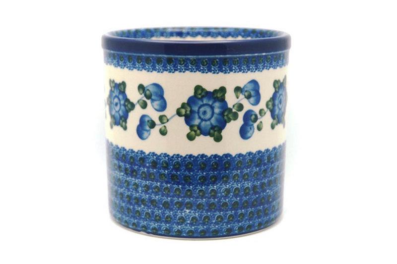 Ceramika Artystyczna Polish Pottery Utensil Holder - Blue Poppy 003-163a (Ceramika Artystyczna)