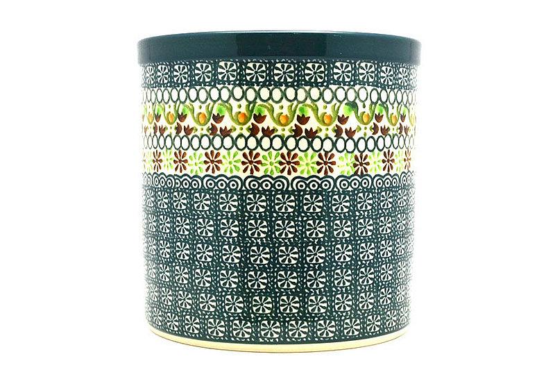 Ceramika Artystyczna Polish Pottery Utensil Holder - Mint Chip 003-2195q (Ceramika Artystyczna)