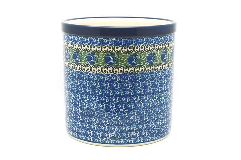 Ceramika Artystyczna Polish Pottery Utensil Holder - Peacock Feather 003-1513a (Ceramika Artystyczna)
