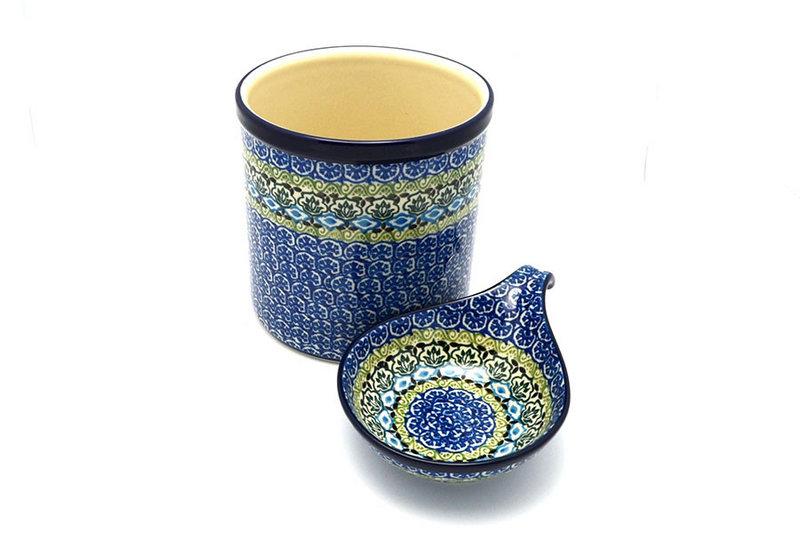 Ceramika Artystyczna Polish Pottery Utensil Holder Set - Tranquility S00-1858a (Ceramika Artystyczna)