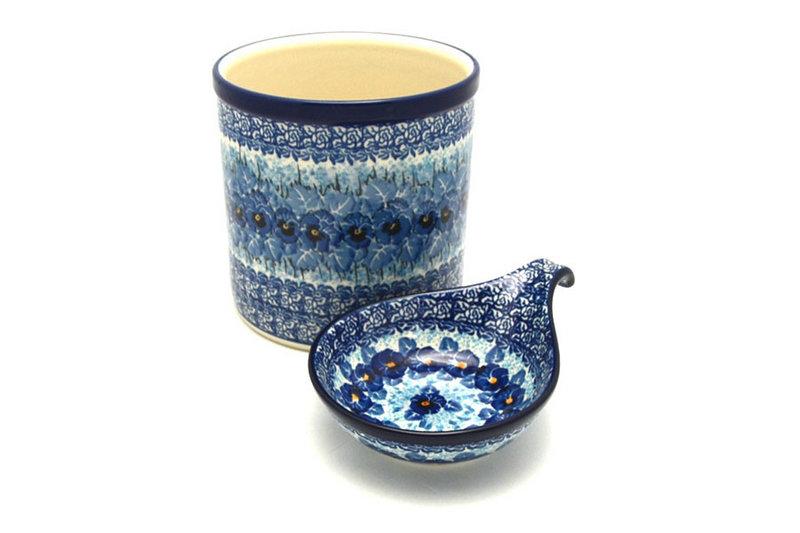 Ceramika Artystyczna Polish Pottery Utensil Holder Set - Unikat Signature - U3639 S00-U3639 (Ceramika Artystyczna)