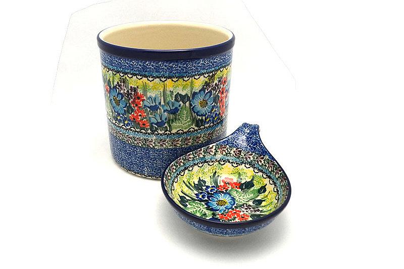 Ceramika Artystyczna Polish Pottery Utensil Holder Set - Unikat Signature - U4558 S00-U4558 (Ceramika Artystyczna)