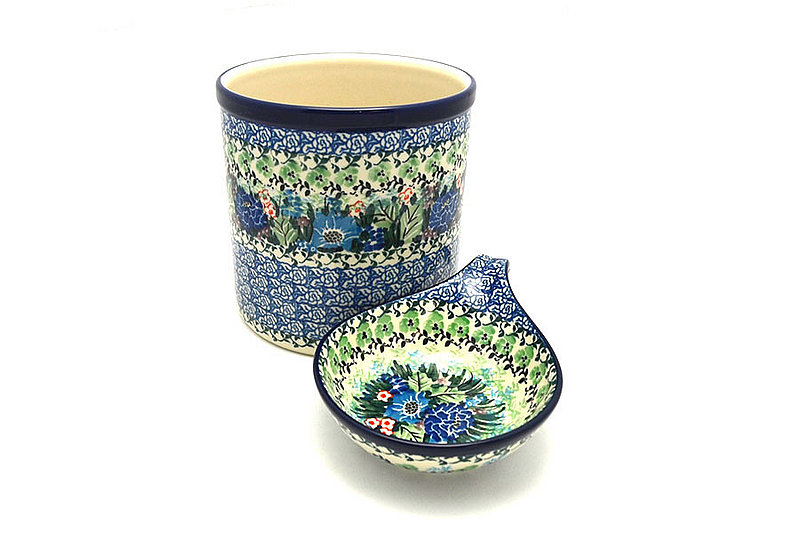 Ceramika Artystyczna Polish Pottery Utensil Holder Set - Unikat Signature - U4572 S00-U4572 (Ceramika Artystyczna)