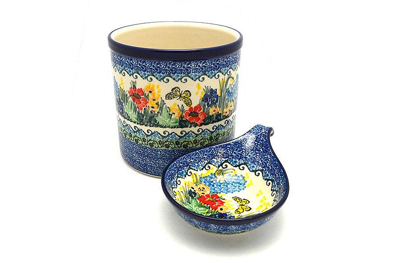Ceramika Artystyczna Polish Pottery Utensil Holder Set - Unikat Signature - U4592 S00-U4592 (Ceramika Artystyczna)