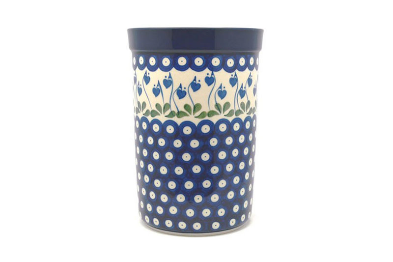 Ceramika Artystyczna Polish Pottery Wine Crock - Bleeding Heart 169-377o (Ceramika Artystyczna)